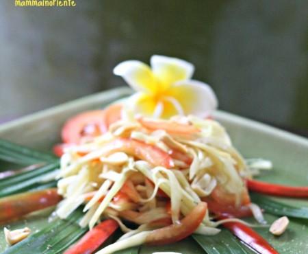 Insalata Thai di papaya verde, frutto dalle tante proprietà