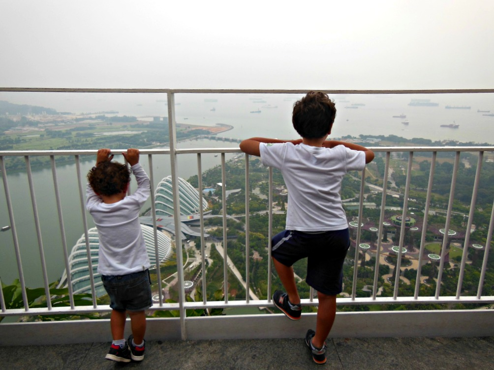 Singapore dall'alto del marina Bay Sands
