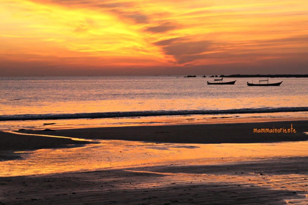 Dopo tramonto a Ngapali Beach Myanmar
