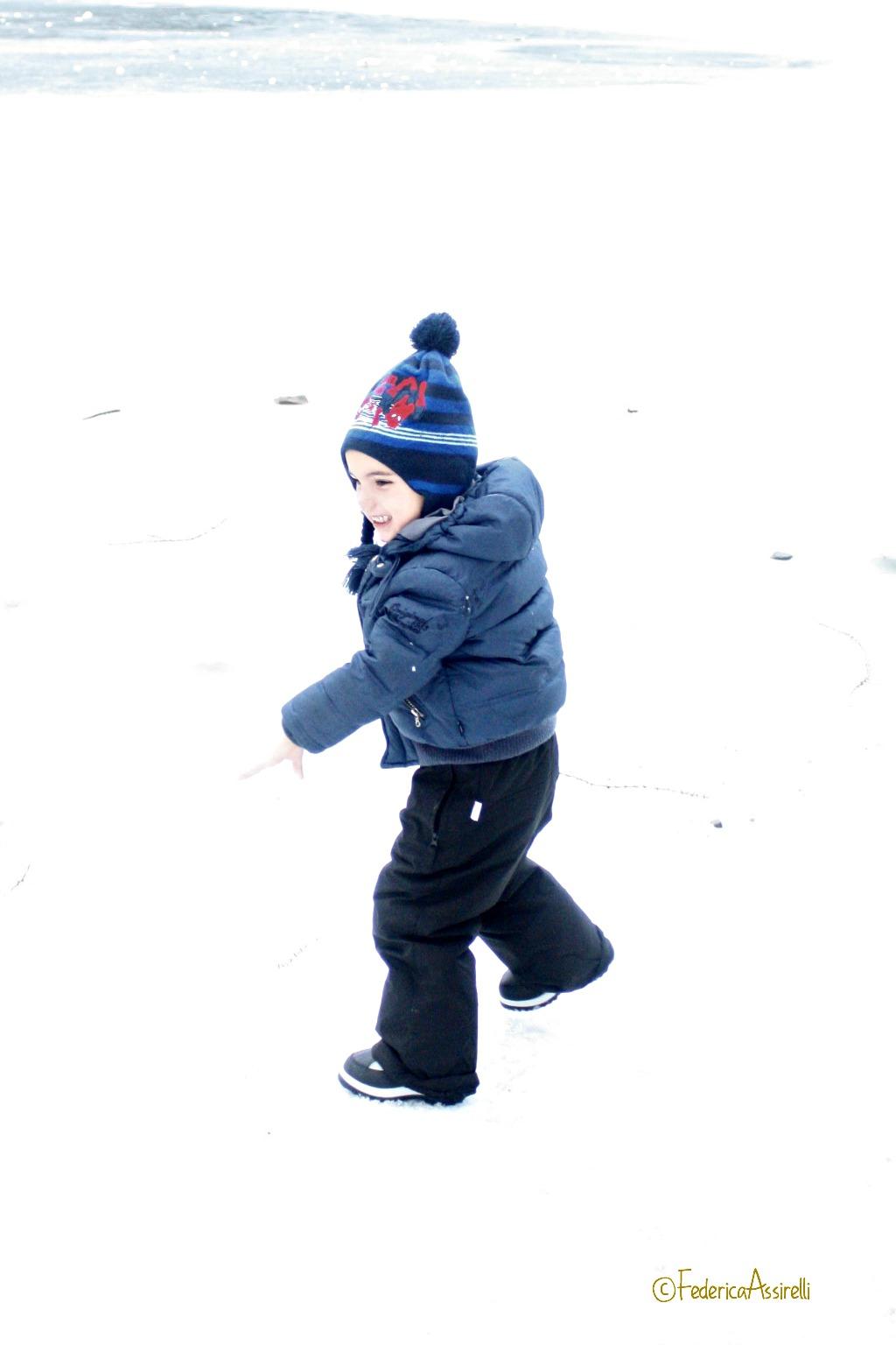 Felice sulla neve