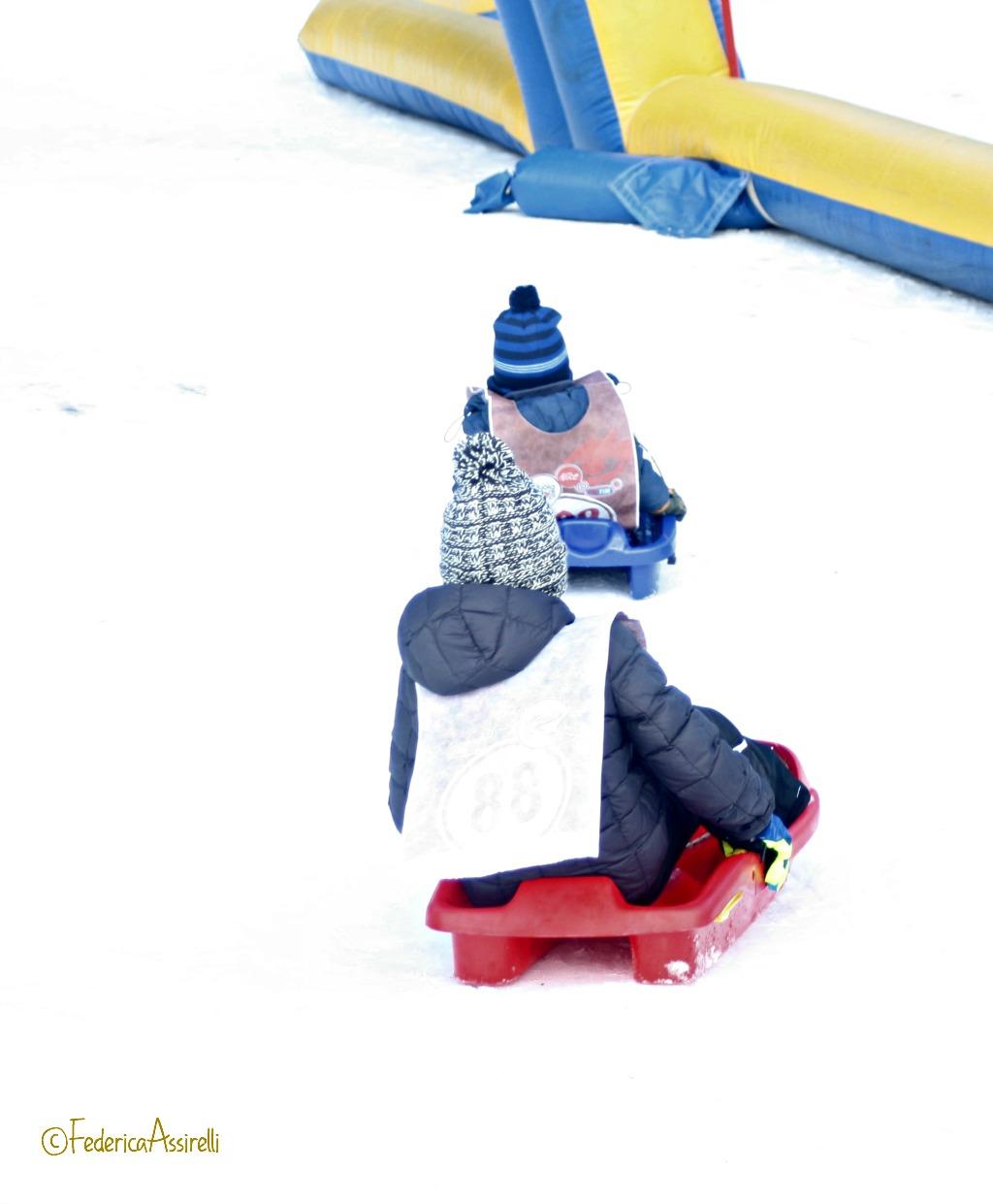 Insieme sulla neve