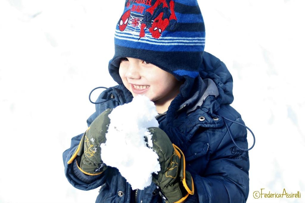 La prima palla di neve