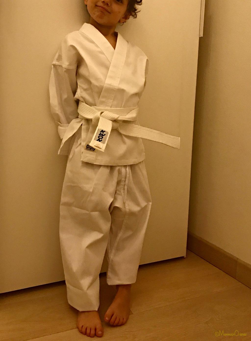 Prova kimono karate