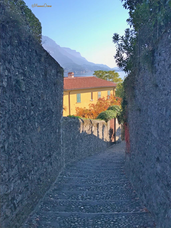 Vicoli tranquilli a Bellagio sul Lago di Como