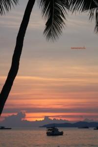 Il tramonto a Pattaya Beach