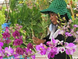 Mercato dei fiori a Pattaya
