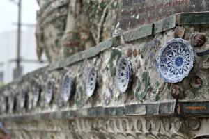 Porcellana cinese al Wat Arun