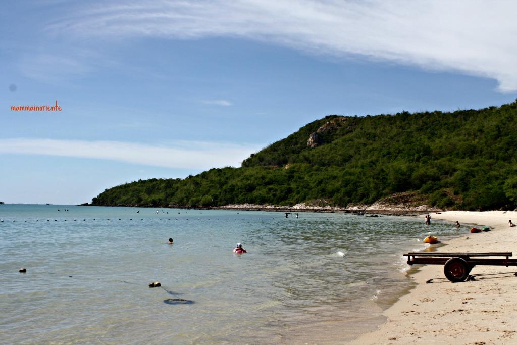 La spiaggia di Saikaew a Sattahip