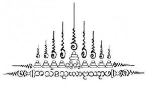 magici tatuaggi thailandesi Sak Yant, il Gao Yord semplificato