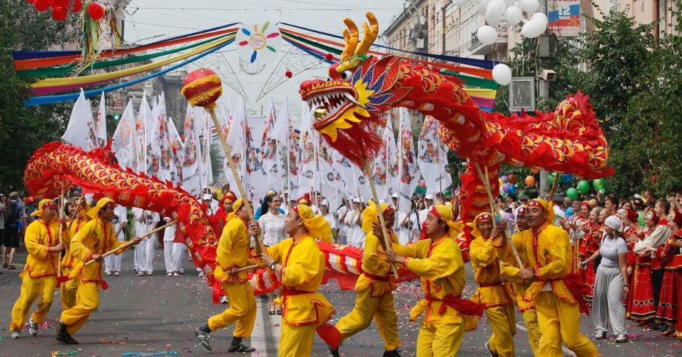 La danza del drago nel Capodanno cinese